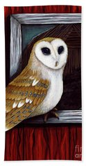 Barn Owl Beauty Hand Towel