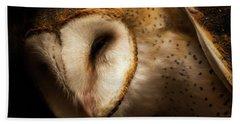 Barn Owl Bath Towel