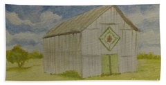 Bath Towel featuring the painting Barn Quilt by Stacy C Bottoms