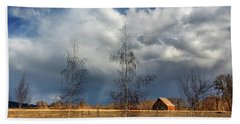 Hand Towel featuring the photograph Barn Storm by James Eddy