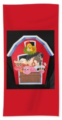 Barn With Animals Hand Towel