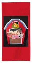 Barn With Animals Bath Towel