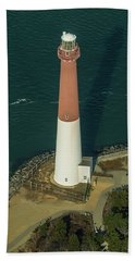 Barnegat Lighthouse From Above Bath Towel
