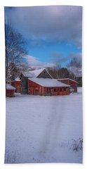 Barns In Winter Bath Towel