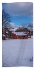 Barns In Winter Hand Towel