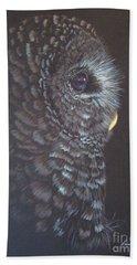 Barred Owl 2 Bath Towel by Laurianna Taylor