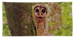 Barred Owlet Bath Towel