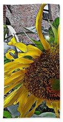 Barrio Sunflower 3 Bath Towel by Sarah Loft
