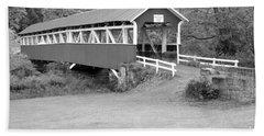 Barronvale Covered Bridge Black And White Hand Towel