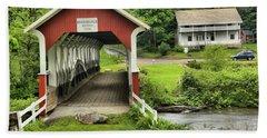 Barronvale Covered Bridge Landcape Hand Towel