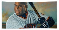 Barry Bonds Hand Towel by Paul Meijering