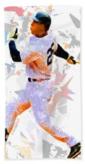 Bath Towel featuring the painting Baseball 25 by Movie Poster Prints