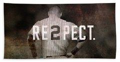 Baseball - Derek Jeter Hand Towel by Joann Vitali