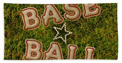 Baseball Hand Towel by La Reve Design