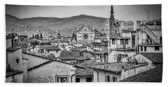 Basilica Di Santa Croce Bath Towel by Sonny Marcyan