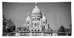 Basilica Of The Sacred Heart In Paris Bath Towel