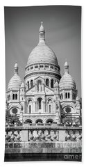 Basilica Of The Sacred Heart In Montmartre Bath Towel