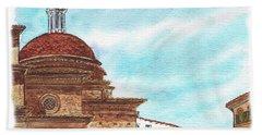 Hand Towel featuring the painting Basilica San Lorenzo Florence Italy by Irina Sztukowski