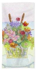 Basket Arrangement Hand Towel by Anne Marie Brown