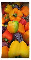 Basket Full O'peppers Hand Towel