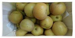 Basket Of Asian Pears Hand Towel