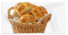Basket Of Hot Cross Buns Hand Towel
