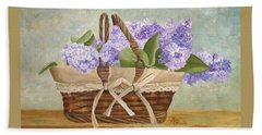 Basket Of Lilacs Bath Towel