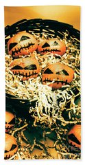 Basket Of Little Halloween Horrors Bath Towel