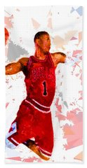 Bath Towel featuring the painting Basketball 1 by Movie Poster Prints