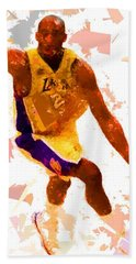 Bath Towel featuring the painting Basketball 24 A by Movie Poster Prints