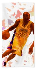 Bath Towel featuring the painting Basketball 24 by Movie Poster Prints