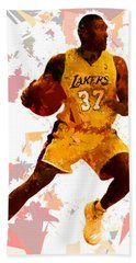 Bath Towel featuring the painting Basketball 37 by Movie Poster Prints