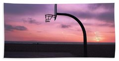 Basketball Court At Sunset Bath Towel