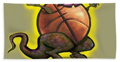 Basketball Saurus Rex Bath Towel