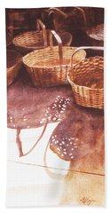 Baskets In The Sun Bath Towel