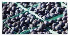 Baskets Of Blueberries Hand Towel by Todd Klassy