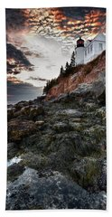 Bass Harbor Light Hand Towel