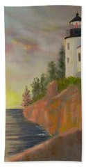 Bass Harbor Light Bath Towel