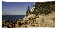 Bass Harbor Lighthouse Hand Towel