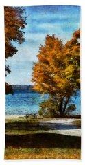 Bass Lake October Hand Towel