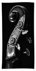 Hand Towel featuring the photograph Bass Violin by Julia Wilcox