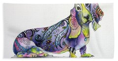 Basset Hound Horace Bath Towel by Patricia Lintner