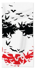 Bat Face Hand Towel