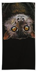 Bat Hand Towel by Michael Creese