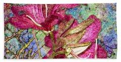 Batik Lilies Bath Towel