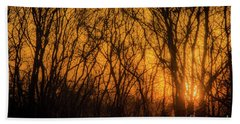Hand Towel featuring the photograph Batik Sunset by Cheryl McClure