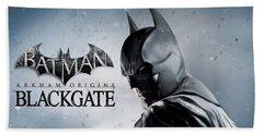 Batman Arkham Origins Blackgate Bath Towel