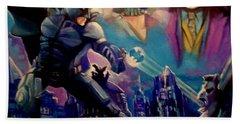 Batman Hand Towel by Paul Weerasekera