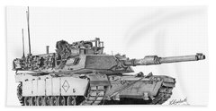 M1a1 Battalion Master Gunner Tank Hand Towel