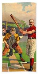 Batter Up 1895 Bath Towel